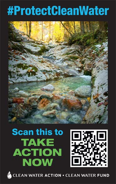 Protect Clean Water QR Code Flyer Image