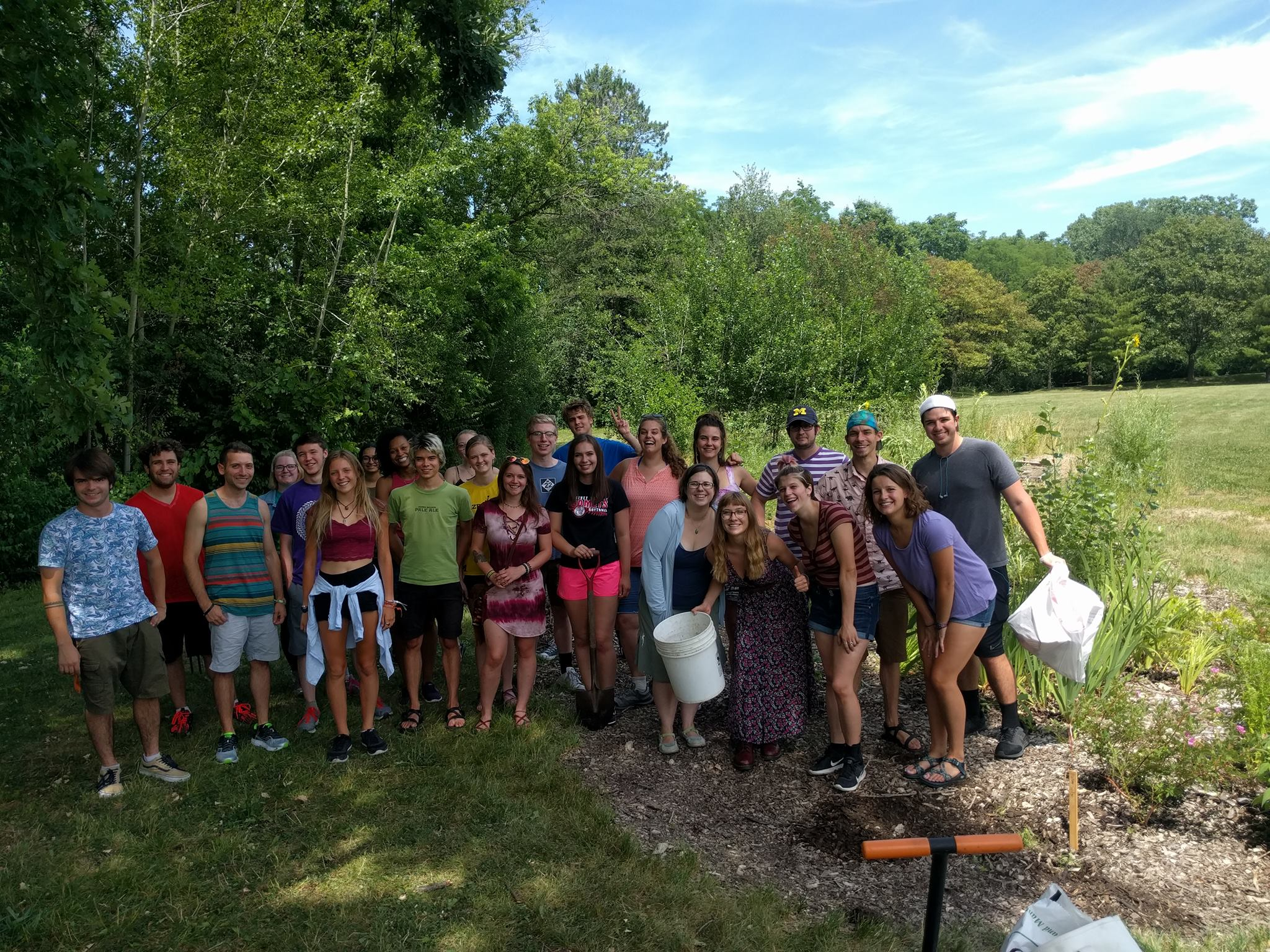 Ann Arbor office at our Adopt A Park Rain Garden Site