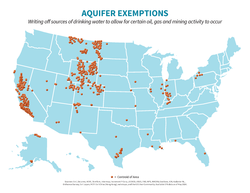 Challenging Oil And Gas Industry Practice Of Legally Polluting - Aquifer oil pollution us map