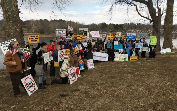 Fracking Rally New Jersey by David Pringle