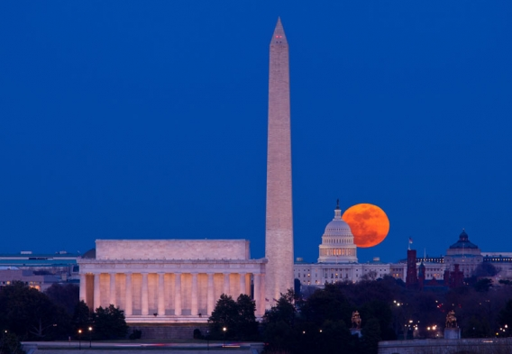 Lincoln and Washington monuments, Capitol in background. Photo credit: Steve Heap / Shutterstock