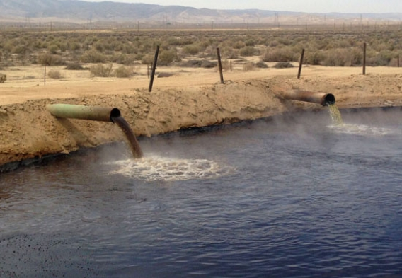 Oil waste water pit